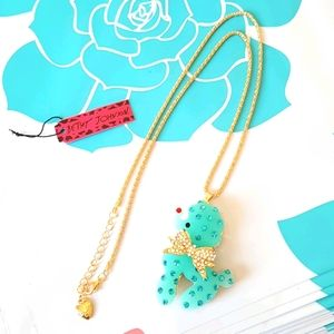 NEW BJ Necklace Blue Crystal Pendant